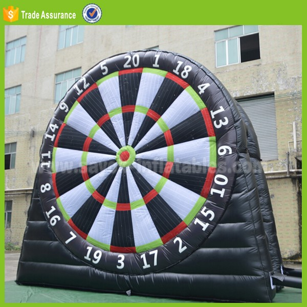 dart board foot ball inflatable giant inflatable dart board game for soccer football game