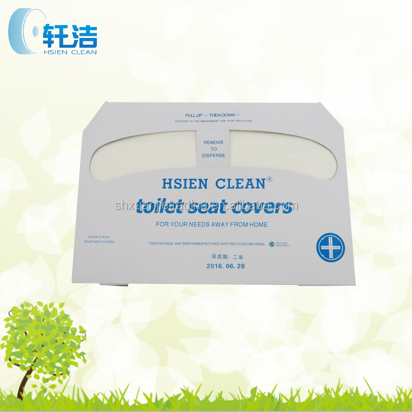 1 Ply 100% Virgin Wood Pulp Disposable Toilet Seat Cover Paper