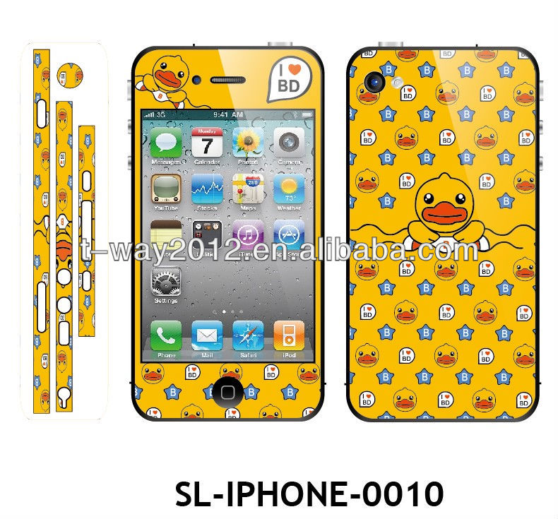 Lovely cartoon screen protector for iphone 4 4s 5g