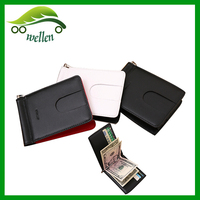 brand men wallet with money clip, genuine leather us dollar wallet