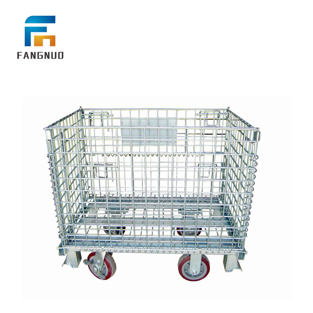 1000*800mm warehouse folding storage folding cage for sale