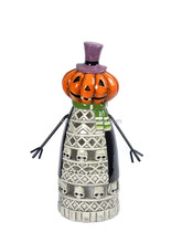 Festival Ceramic Halloween Decoration Pumpkin Candle Holder