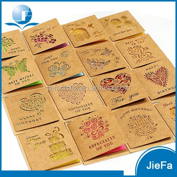High Quality EN71 Certified Handmade Birthday Greeting Card Designs