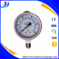 Y60-BG490 Stainless Steel Liquid Filled Pressure Gauge