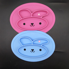 Rabbit silicone tray placemat food grade safe non-slip silicone mat for children