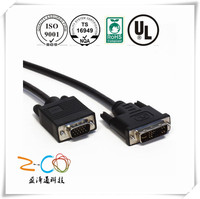 DVI TO VGA cable assembly for computer and multimedia