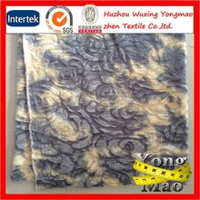 Huzhou buy 100 polyester embossed long hair animal faux fur plush fabric