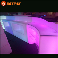 Top Quality Illuminated Lighted LED Bar Furniture Outdoor Nightclub Mobile Bar Counter
