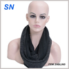 Winter fashion black cotton scarf