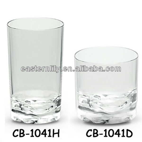 Unbreakable Tritan PC Polycarbonate Drinking Highball glass
