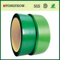 machine grade customized green embossed plastic strapping roll