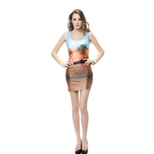 Hight Quality Custom New Style Fashion One Piece Dress Latest Sleeveless Design Sexy Dress