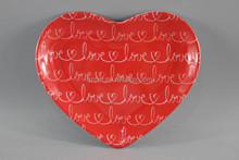 Valentine's day Melamine heart-shaped Plate