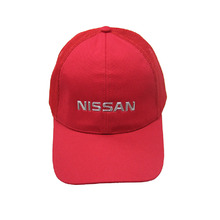 Hot sale fashion fitted baseball cap red mesh hat sports golf hats for women men