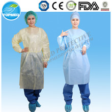 Disposable Isolation gown Patient gown Visitor gown with elastic cuff