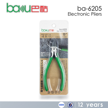 BAKU New Design and High Quality Tiny Electronic Pliers Hand Tool Cutting Pliers Ba-6205