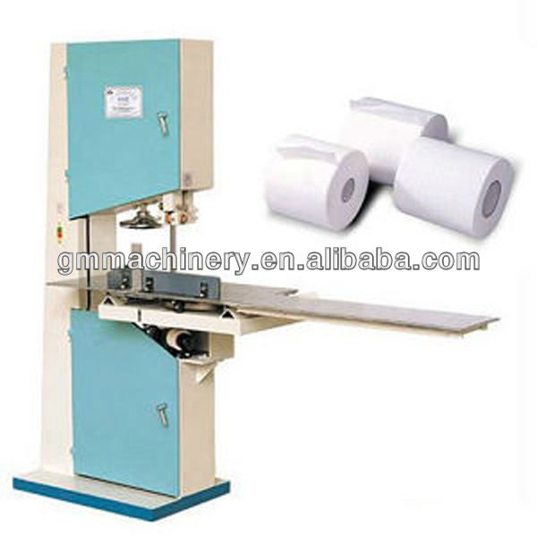Mini toilet paper machine paper cutter 450 for bandsaw jumbo roll cutting machine