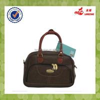Dark Brown Ladies Fashion Handbag And Brand Names Trolley Bag