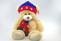 soft teddy bear plush toys with scarf and hat for children gifts