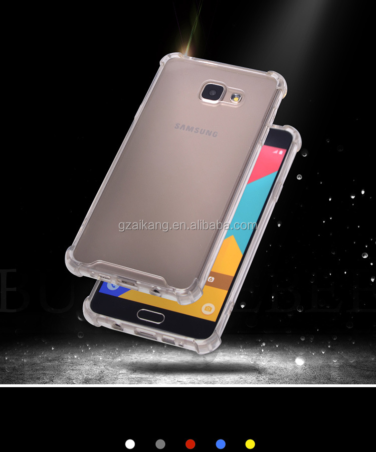 Tpu case for cell phone for samsung galaxy grand prime with air cushion protective phone case for samusung J5 prime