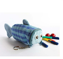 Plush animal pencil pouch