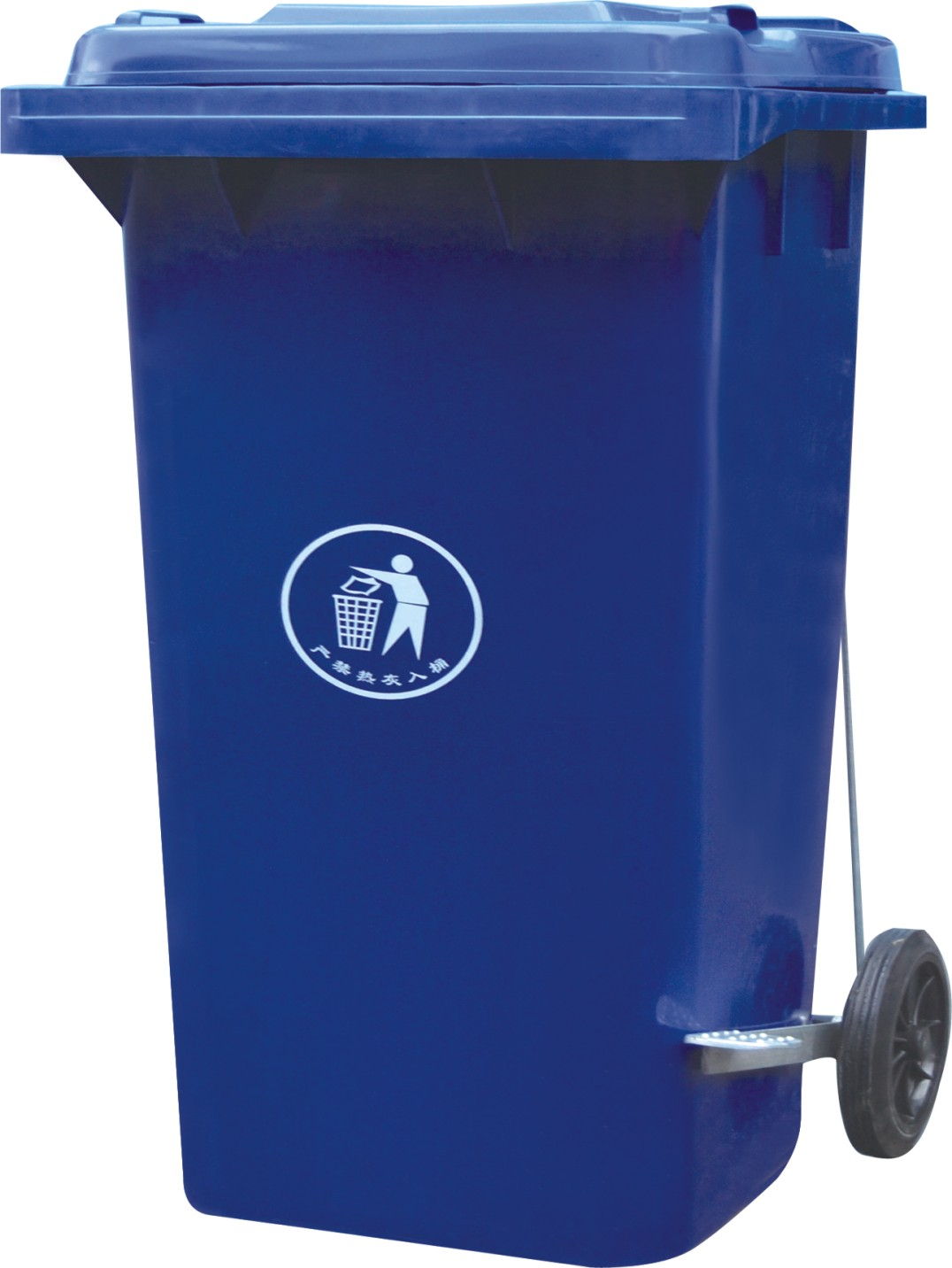 240L street dustbin/animal fecal container/plastic dustbin with lid