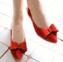 4Colours Bowtie Designer Flat Shoes Point Toe Woman Shoes Autumn ladies Candy Flats Footwears