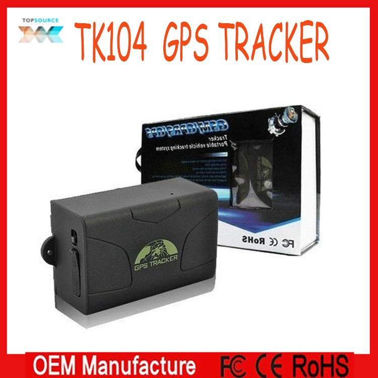 Coban Real Time Shock Sensor SOS service GPS Car Tracker TK104 long life 60 Days battery LBS+GPS Double Tracking