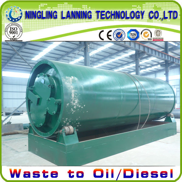 10 tons/day waste tyres oil extraction machine with water spray cooling system
