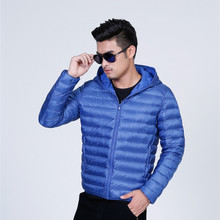 OEM factory price leather men down jacket for winter