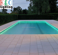 solid core emitting plastic optical fiber for swimming pool perimeter lighting