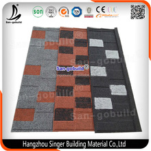 Cheap Corrugated Stone Coated Metal Roof Tile / Asphalt Roofing Shingle Best Price