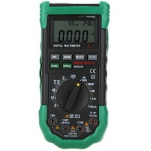MS8229 Auto Range Digital Multimeter & Temperature Humidity Light Lux Sound Level Meter Tester 5 in 1 with Back Light