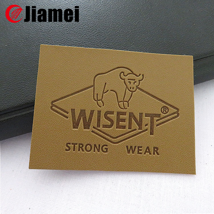Personalized 3d oem artwork custom fashion designer jeans pu patches labels