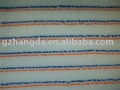 woven polyester paint roller fabric wiht color stripe 750g/sqm-13mm