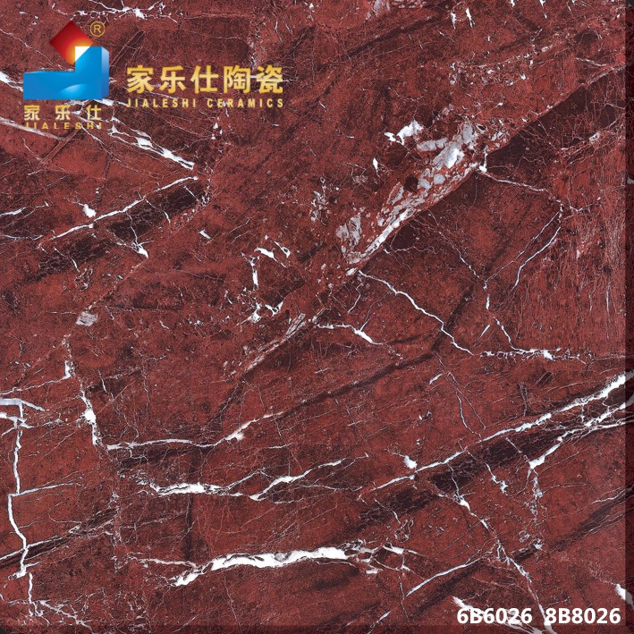 moroccan new model flooring porcelin tiles red marble (6B6026)