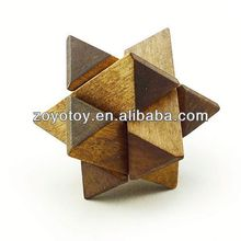 Wooden toy puzzles wood pyramid puzzle