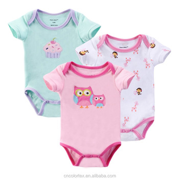Pure cotton infant and toddler bodysuit with cute design
