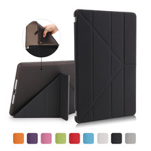 Case For New iPad 9.7 2017 A1822 tablet case Fashion Ultrathin Smart Wake/Sleep+Soft TPU Translucent Back Cover Stand