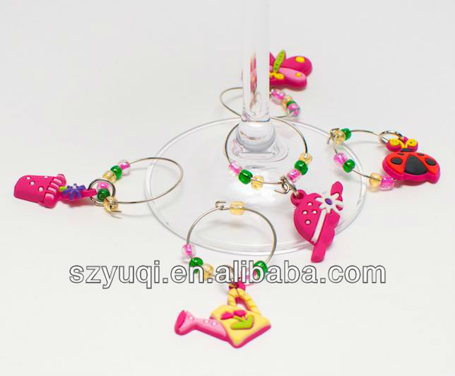Promotional plastic PVC Halloween wine charms
