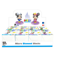 HSANHE Princess Play Set 8 In 1 Educational Manipulative Minnie Mouse toy brick