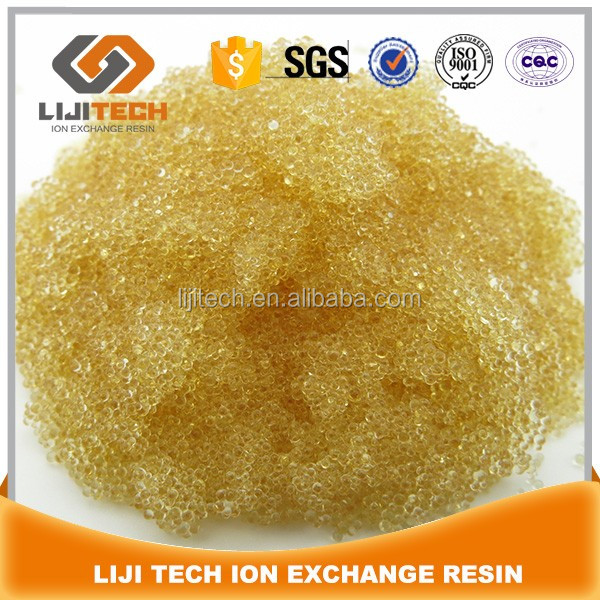 001x7 Food Grade Polymer Water Softeners Ion Exchange Resin