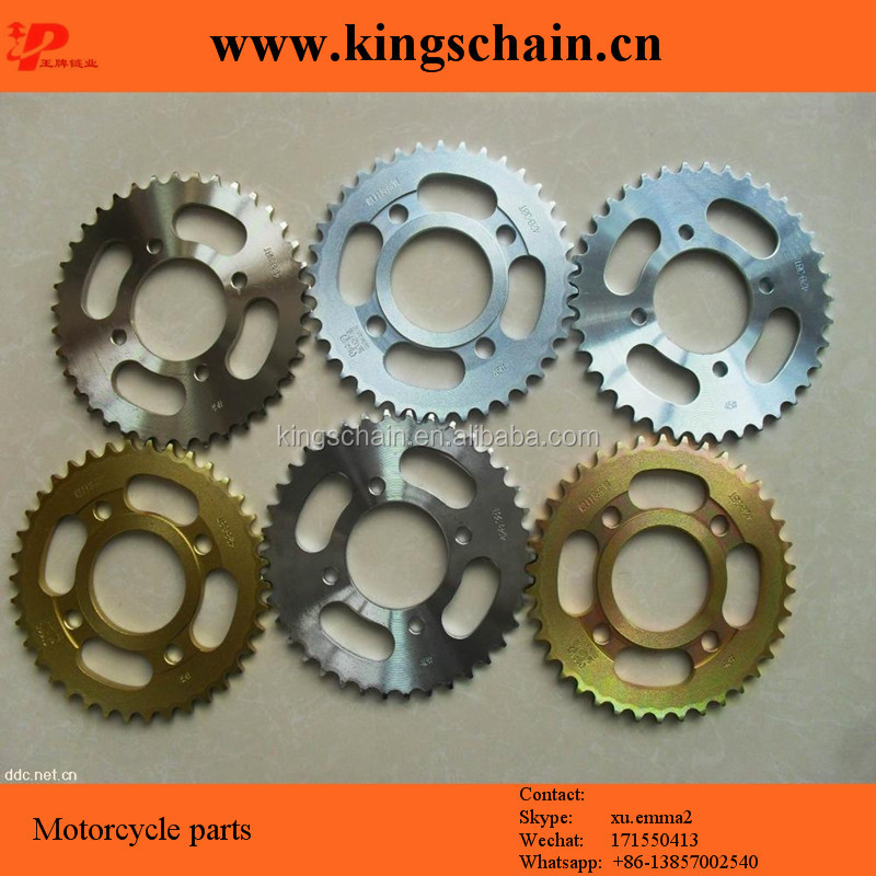 Heat treatment 45# WAVE 100 motorcycle sprocket and chain sets