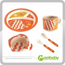Promotional Bamboo Fiber Kid Dinner Set