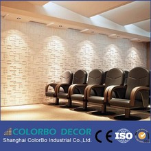 Wall decoration 3D wave mdf board/corrugated wall panel