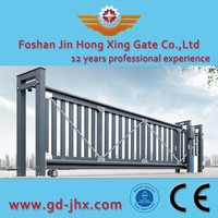 Indian Main sliding Gate Design automatic flexible sliding gate retractable sliding entrance gate JHX312