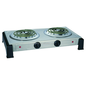 Electric Double Burner Hotplate Coil Spiral Tubes Good Electric Cooking Plate Electric Stove Hot Plate
