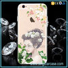 New Nymph Printing With Diamonds Design Back Cover Phone Case For iPhone 6S