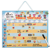 E1014 learning educational toys weekly timetable planning chart magnetic time table board