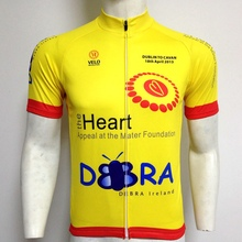 Accept sample order 100%polyester coolmax wholesale club cut yellow sublimation cycling jersey for men